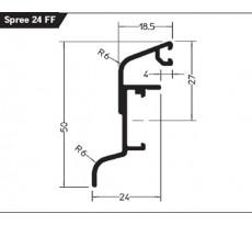Rejet d'eau alu anodisé Spree24 Of GUTMANN Bronze foncé RAL E6/G216 - Long.3m - 811220