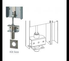 Kit DECAYEUX Haut et bas pour serrure bandeau DAD900 - Marron - 727070