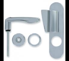 Kit DECAYEUX béquille/ aile de tirage pour serrure DAD 900 - Argent - 728453
