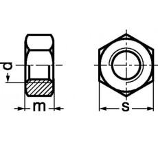 Écrou hexagonal HU EMILE MAURIN - Acier classe 8 - Iso 4032 - 22011