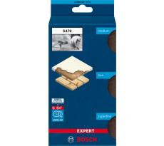 Eponges abrasive BOSCH Expert Combi S470 - 3 pièces - 2608901174