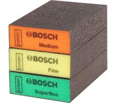 Eponges abrasive BOSCH Expert Standard S471 - 3 pièces - 69 X 97 X 26 MM - 2608901175