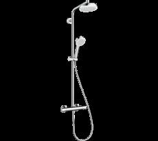Colonne de douche HANSGROHE Crometta  1jet avec mitigeur thermostatique blanc/chromé - 27264400