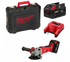 Meuleuse d'angle MILWAUKEE HD28 AG125-32 X - 28V 3.0Ah + 2 batteries, chargeur en coffret - 4933432235