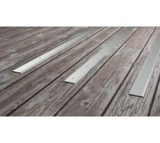 Plat de marche strié percé L.3m 3M pour terrasse bois - 206811D