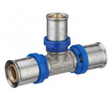Té réduit à sertir multiprofil TH-H-U pour tubes multicouche NOYON & THIEBAULT - Øs 20-16-20 mm - 311001