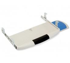 Tablette pour clavier informatique EMUCA gris porte souris - largeur 590mm - 4193121