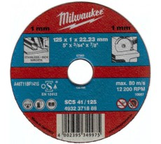 Lot de 50 disques à tronçonner MILWAUKEE - Ø115mm - 4932371902