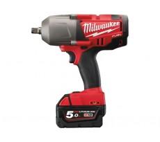 Boulonneuse à chocs MILWAUKEE Fuel M18 CHIWF34-502X - 18V 5.0Ah + 2 batteries, chargeur, en coffret - 4933448415