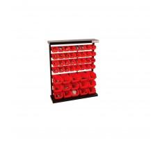 Étagère de rangement HOLZMANN 47 bacs en plastique - KSR94