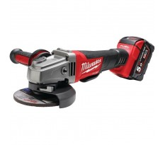 Meuleuse MILWAUKEE HD28 AG-125-502X - Ø125mm 28V 5.0 Ah + 2 batteries, chargeur, en coffret Dynacase - 4933448541