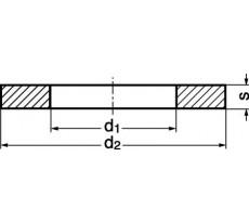Rondelle plate MAURIN - extra large LL - Acier 100 hv - 70701
