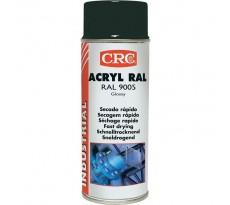 Peinture acrylique CRC Aérosol - Noir brillant - 520ml/400ml
