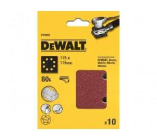 Feuille abrasive DEWALT - 115 x 115 mm - grain 120 - 10 pièces - DT3023