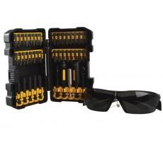 Coffret vissage 42 pièces Impact Torsion DEWALT + Lunettes de protection - DT70580T-QZ