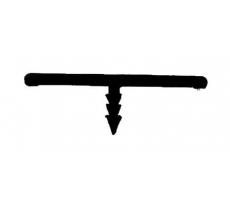 "Profil en ""T"" 3009 PRUNIER - 30x9 mm x 2.6 m - blanc - TBP3009"