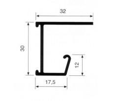 PROFIL DOSSIER SUSPENDU BRUT S/TABLETTE BARRE DE 4ML 1322A