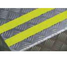 Bandes super-agrippantes Dinastair 3M - Particules sur alu autoadhésif - jaune - 15m30 x 50 mm - 27 00 19