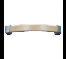 Poignee bois metal courbe alu et hetre entraxe 160 l.190 h.17 p.28