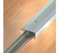Nez de marche à visser - Aluminium anodisé mat - Longueur 1,70 m - 36x20 - 164 13 11 250