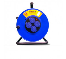 Enrouleur MERCIER 4 prises - 25m - 250V - 3 G 2,5 mm2 - H07RNF - 900