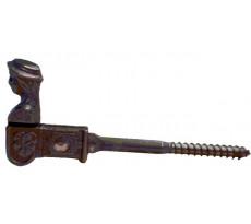 Arrêt de volet tête bergère ROLLINGER vis tirefond 12 cm époxy noir - C1701EPROLLINGE