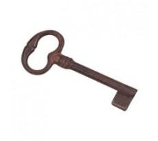 Clé ancienne tige 40 mm DUBOIS - fer rouillé ciré - 1597