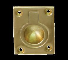 Poignée anneau cuvette DEVISME - laiton -  50x37 mm - 554