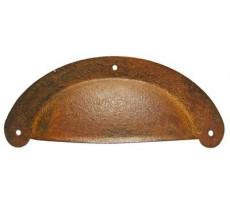Poignée coquille DUBOIS - 41 x 100 mm - fer rouillé ciré - 498510