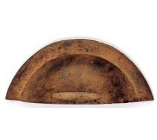 Poignée coquille DUBOIS - 95 x 40 mm - fer rouillé ciré - 498750