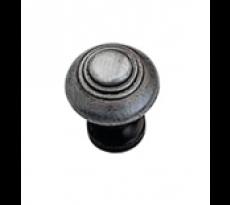 Bouton rustique zamac vieil argent BROS - Ø30 - 301-Z-18
