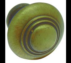 Bouton rustique zamac vieux bronze BROS - Ø30 - 301-Z-4