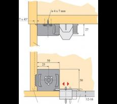Clip de plinthe/verin euro        71849