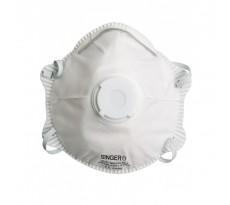 Demi-masque classique avec valve SINGER FFP2 NR D - Boîte de 10 pièces - AUUM20VSL