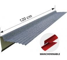 Bande rive BACACIER pour panneau Tuile R Pro - L120 cm - Couleur Graphite