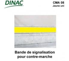 Bandes de signalisation DINAC Contremarche alu jaune - 102701D