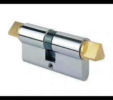 Cylindre profilé DOM TSS - 30x30 mm - t14xt14 laiton - 1263T3