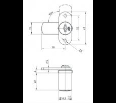Serrure batteuse pour mobilier bois basico (2 clefs + rosace) - f513624.009ni