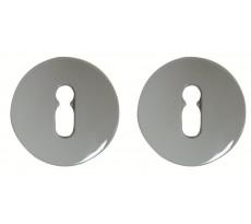 Paire de rosace Gris 67 NORMBAU serrure Trou de clé S80/TDC - 0247110 GRIS 67