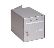 Boite aux lettres intérieur-extérieur DECAYEUX double face - Laqué gris - 123215