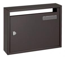 Boîte à lettres 12L Commerciale 2 DECAYEUX 400x300x100 mm - Brun gris ral 8019 - 213247