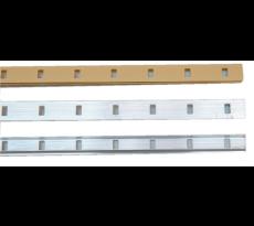 Crémaillère aluminium à encastrer 1337 VACHETTE - L.2 m - 02902