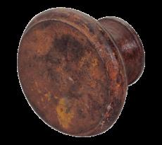 Bouton rond type provençal DUBOIS - fer rouillé ciré - 098012