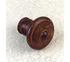 Bouton rond type ancienne DUBOIS - fer rouillé ciré - 98230
