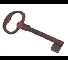 Clé anciennne tige forée DUBOIS - panneton ajusté en 40 - fer rouillé ciré - 158014