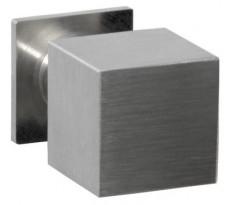 Bouton de meuble carré DIDHEYA - sur pied - Ø20 mm - inox massif brossé - I-426/34120