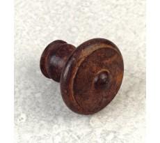Bouton rond ancien d.30 fer rouille cire du9068-04