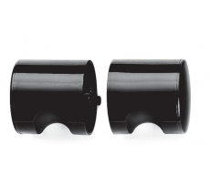 Bouton double Ø 52 mm NORMBAU - carré de 7 mm - noir - 234070