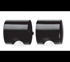 Bouton double tournant nylon noir d.52mm carre 7mm ny.kd 80 f