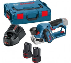 Rabot BOSCH GHO 12V20 Professional - 2 batteries 3.0Ah Li-Ion, chargeur, coffret - Avec 2 fers de rabot - 06015A7001